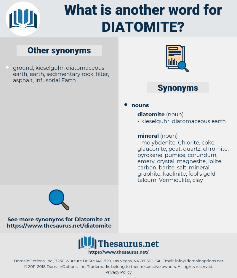 diatomite, synonym diatomite, another word for diatomite, words like diatomite, thesaurus diatomite