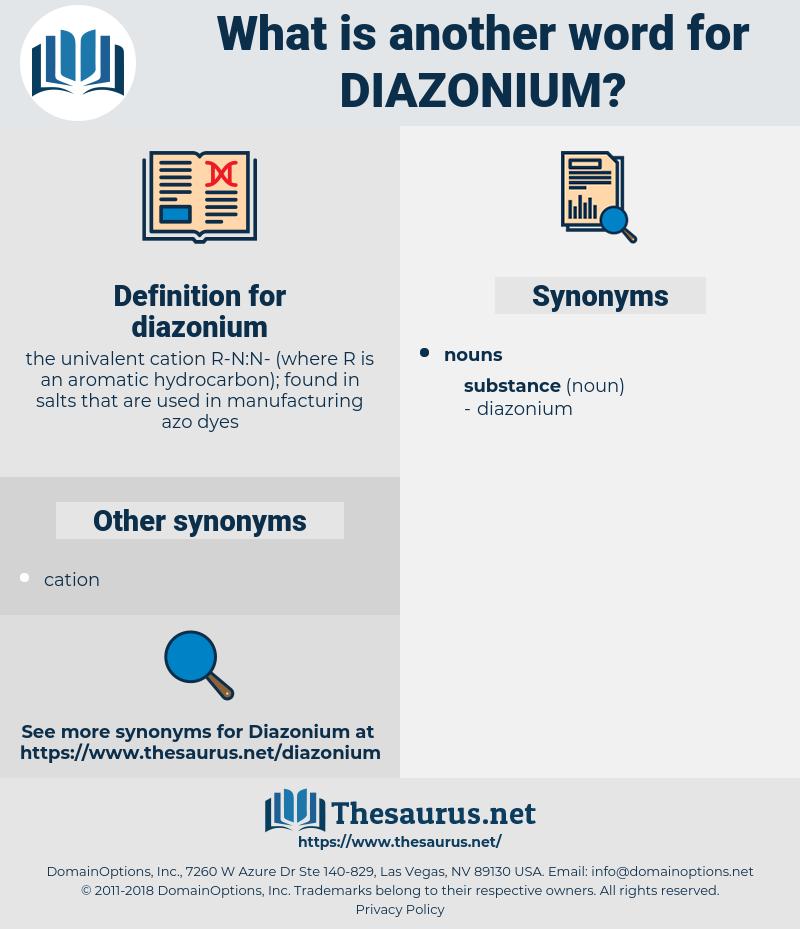 diazonium, synonym diazonium, another word for diazonium, words like diazonium, thesaurus diazonium