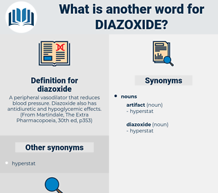 diazoxide, synonym diazoxide, another word for diazoxide, words like diazoxide, thesaurus diazoxide