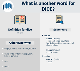 dice, synonym dice, another word for dice, words like dice, thesaurus dice