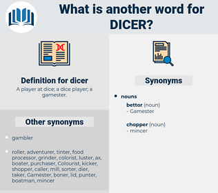 dicer, synonym dicer, another word for dicer, words like dicer, thesaurus dicer