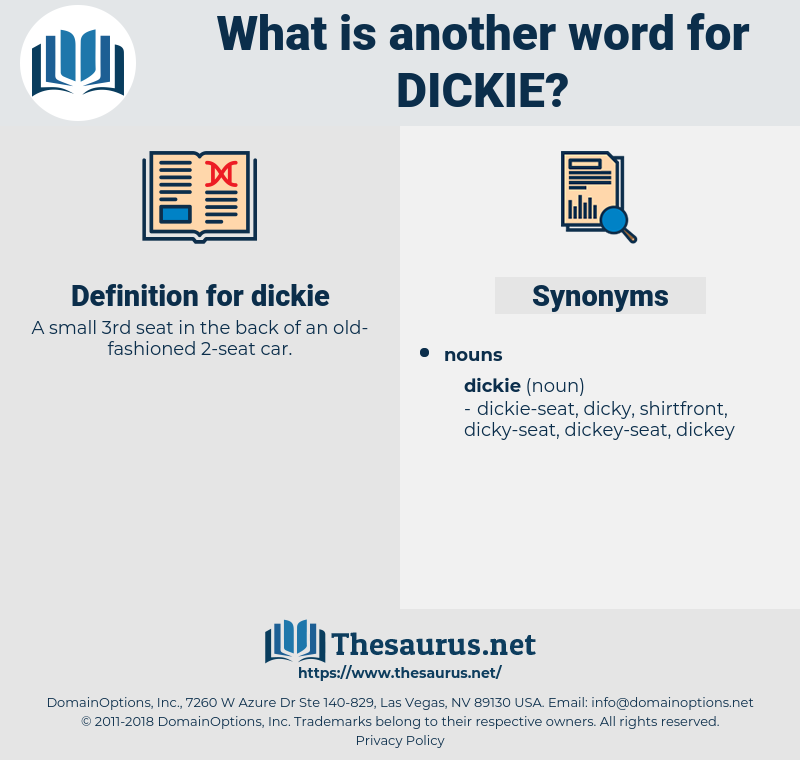 dickie, synonym dickie, another word for dickie, words like dickie, thesaurus dickie
