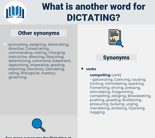 Dictating, synonym Dictating, another word for Dictating, words like Dictating, thesaurus Dictating