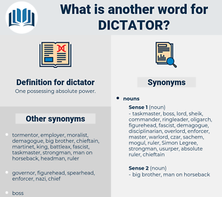 dictator, synonym dictator, another word for dictator, words like dictator, thesaurus dictator