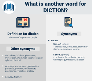 diction, synonym diction, another word for diction, words like diction, thesaurus diction
