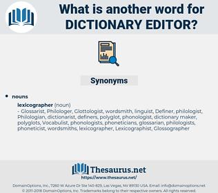 dictionary editor, synonym dictionary editor, another word for dictionary editor, words like dictionary editor, thesaurus dictionary editor