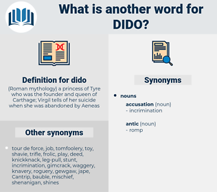 dido, synonym dido, another word for dido, words like dido, thesaurus dido