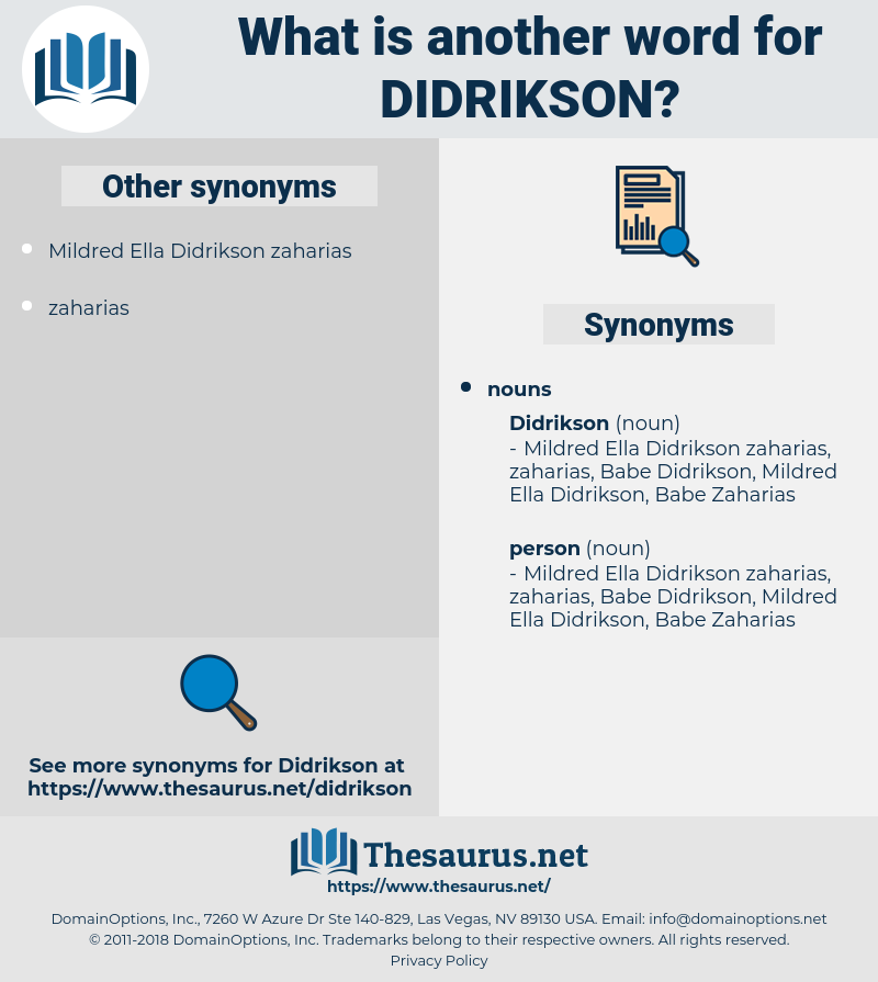 didrikson, synonym didrikson, another word for didrikson, words like didrikson, thesaurus didrikson