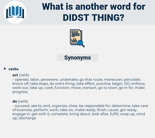 didst thing, synonym didst thing, another word for didst thing, words like didst thing, thesaurus didst thing