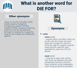 die for, synonym die for, another word for die for, words like die for, thesaurus die for