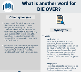 die over, synonym die over, another word for die over, words like die over, thesaurus die over