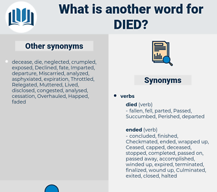 Died, synonym Died, another word for Died, words like Died, thesaurus Died