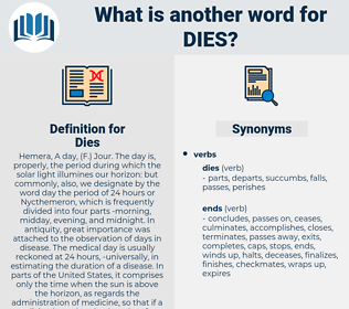 Dies, synonym Dies, another word for Dies, words like Dies, thesaurus Dies