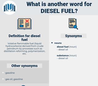 diesel fuel, synonym diesel fuel, another word for diesel fuel, words like diesel fuel, thesaurus diesel fuel