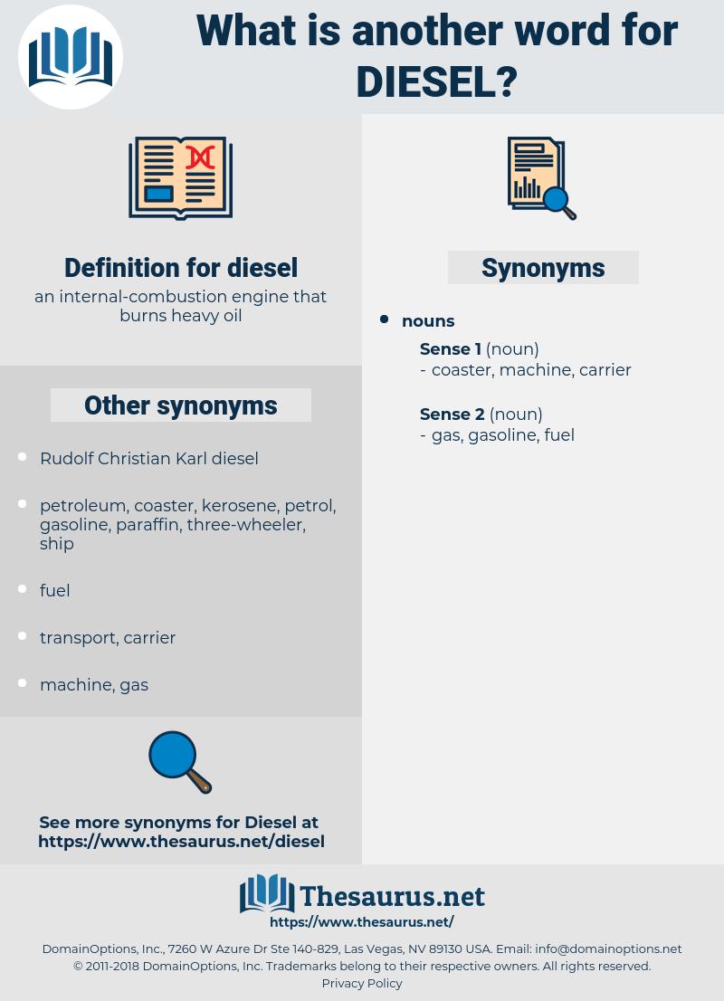 diesel, synonym diesel, another word for diesel, words like diesel, thesaurus diesel