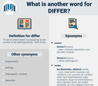 differ, synonym differ, another word for differ, words like differ, thesaurus differ