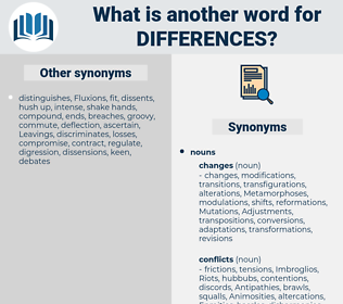 differences, synonym differences, another word for differences, words like differences, thesaurus differences