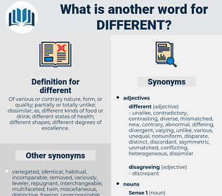 different, synonym different, another word for different, words like different, thesaurus different