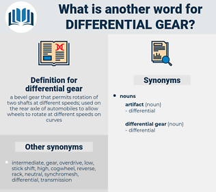 differential gear, synonym differential gear, another word for differential gear, words like differential gear, thesaurus differential gear