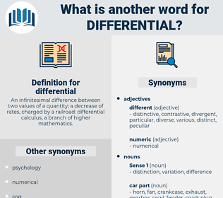 differential, synonym differential, another word for differential, words like differential, thesaurus differential