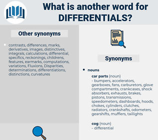 differentials, synonym differentials, another word for differentials, words like differentials, thesaurus differentials