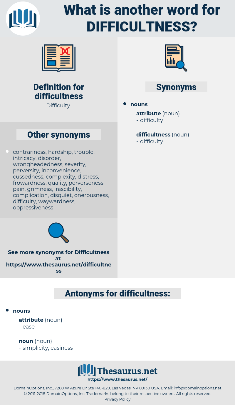 difficultness, synonym difficultness, another word for difficultness, words like difficultness, thesaurus difficultness