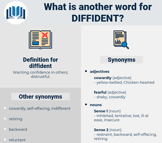 diffident, synonym diffident, another word for diffident, words like diffident, thesaurus diffident