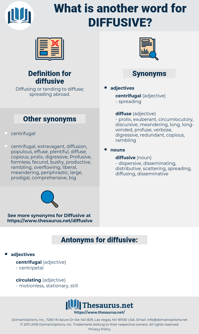 diffusive, synonym diffusive, another word for diffusive, words like diffusive, thesaurus diffusive