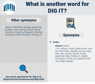 dig it, synonym dig it, another word for dig it, words like dig it, thesaurus dig it
