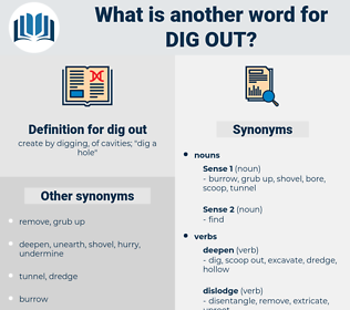 dig out, synonym dig out, another word for dig out, words like dig out, thesaurus dig out