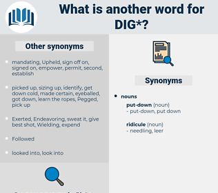 dig, synonym dig, another word for dig, words like dig, thesaurus dig