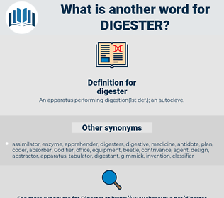 digester, synonym digester, another word for digester, words like digester, thesaurus digester