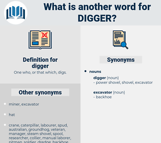 digger, synonym digger, another word for digger, words like digger, thesaurus digger