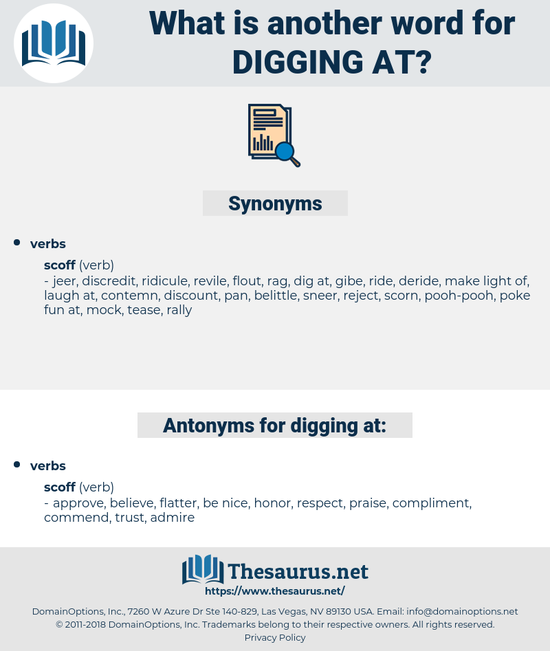 digging at, synonym digging at, another word for digging at, words like digging at, thesaurus digging at