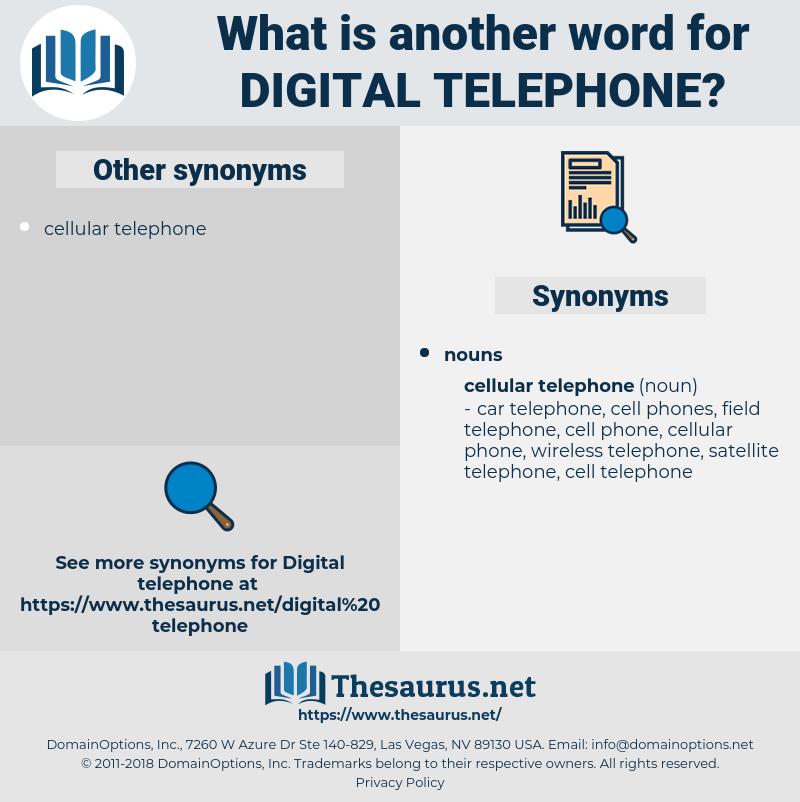 digital telephone, synonym digital telephone, another word for digital telephone, words like digital telephone, thesaurus digital telephone