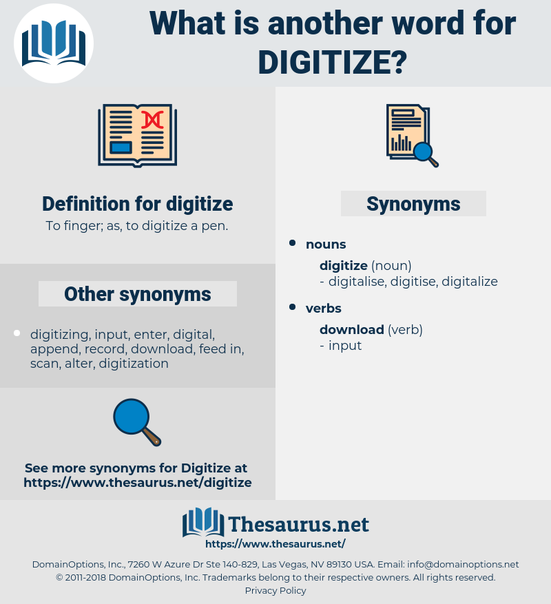 digitize, synonym digitize, another word for digitize, words like digitize, thesaurus digitize