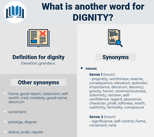 dignity, synonym dignity, another word for dignity, words like dignity, thesaurus dignity