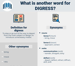 digress, synonym digress, another word for digress, words like digress, thesaurus digress