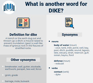 dike, synonym dike, another word for dike, words like dike, thesaurus dike