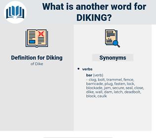 Diking, synonym Diking, another word for Diking, words like Diking, thesaurus Diking