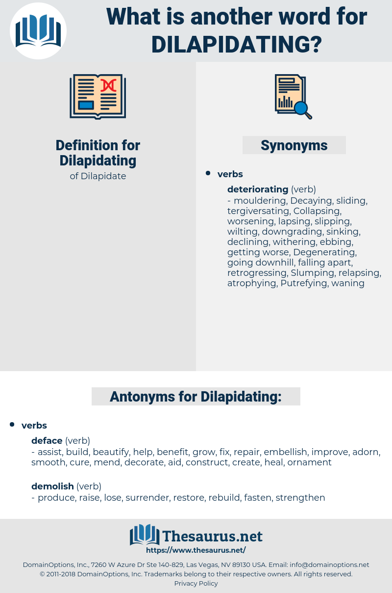 Dilapidating, synonym Dilapidating, another word for Dilapidating, words like Dilapidating, thesaurus Dilapidating