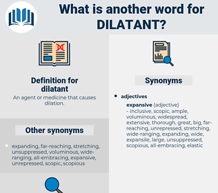 dilatant, synonym dilatant, another word for dilatant, words like dilatant, thesaurus dilatant