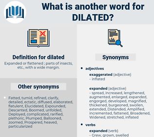 dilated, synonym dilated, another word for dilated, words like dilated, thesaurus dilated