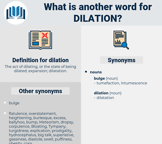 dilation, synonym dilation, another word for dilation, words like dilation, thesaurus dilation