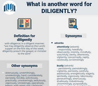 diligently, synonym diligently, another word for diligently, words like diligently, thesaurus diligently