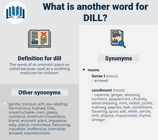 dill, synonym dill, another word for dill, words like dill, thesaurus dill