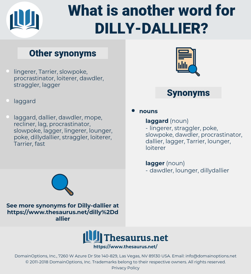 dilly-dallier, synonym dilly-dallier, another word for dilly-dallier, words like dilly-dallier, thesaurus dilly-dallier