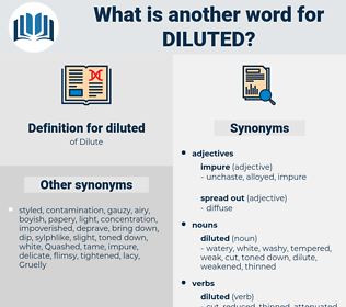 diluted, synonym diluted, another word for diluted, words like diluted, thesaurus diluted