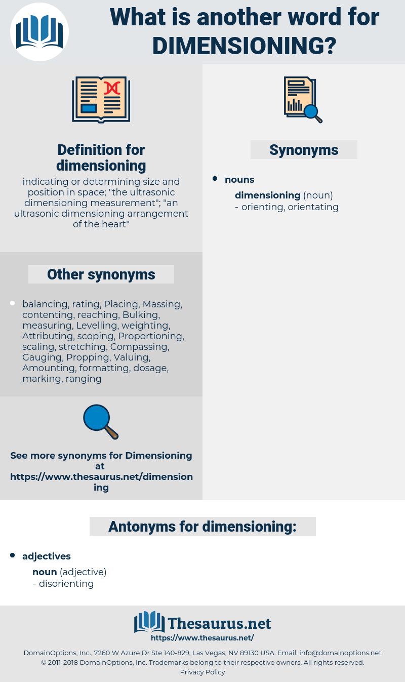 dimensioning, synonym dimensioning, another word for dimensioning, words like dimensioning, thesaurus dimensioning