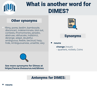 DIMES, synonym DIMES, another word for DIMES, words like DIMES, thesaurus DIMES